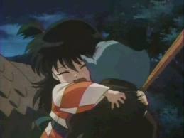 rin hugging jaken