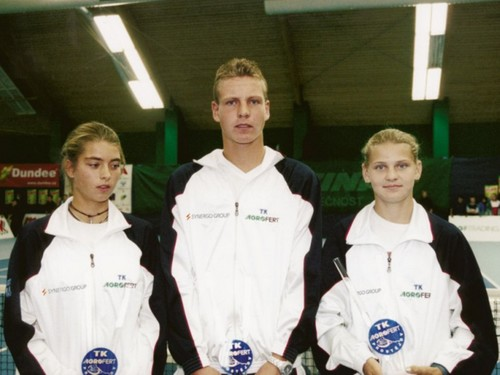 young Tomas Berdych and Lucie Safarova