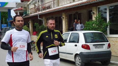 Αγώνας Δρόμου και Βάδην Σκύδρα - Αρσένι 2011 τερματισμός