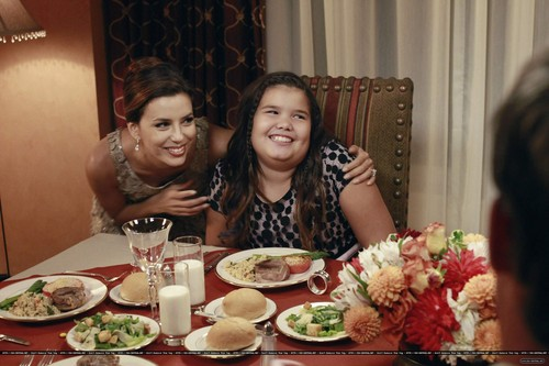 "Desperate Housewives wallpaper with a dinner, a dinner table, and a holiday dinner titled  8x07 ""Always in Control"""