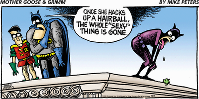 """ Hairball"" funny comic"
