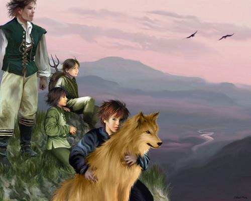 Hodor, Jojen, Meera & Bran