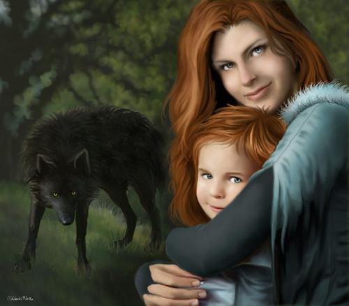 Catelyn & Rickon Stark