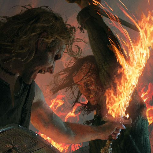 A Song of Ice and Fire wallpaper containing a fire and a fire entitled Sandor Clegane &  Beric Dondarrion