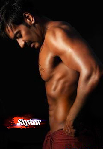Ajay Devgan Six Pack For Singham
