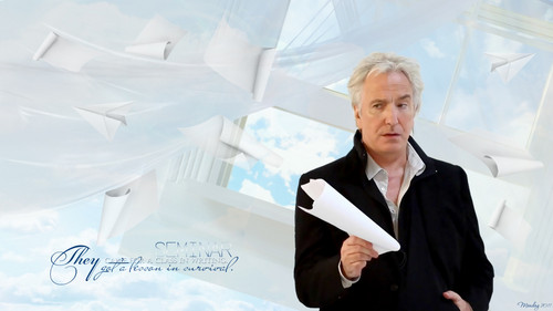 alan rickman fondo de pantalla possibly containing a business suit and a well dressed person titled Alan Rickman Semnar