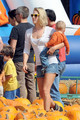 Ali Larter and Hayes MacArthur at Mr. Bones Pumpkin Patch  - ali-larter photo