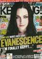 Amy Lee on the Cover of the October 15 2011 Issue of Kerrang! Magazine