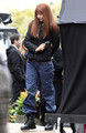 Anna Torv on the Set of 'Fringe' in Vancouver