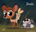 Bambi and Thumper chibi