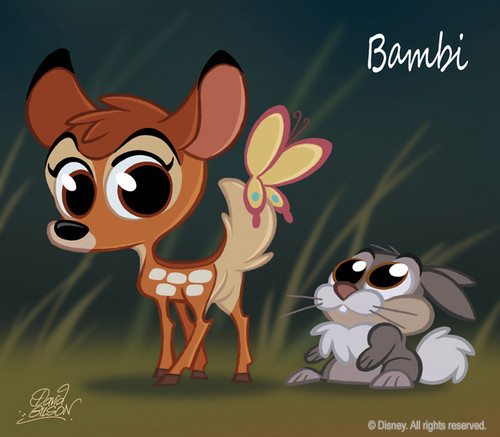 Bambi and Thumper chibi