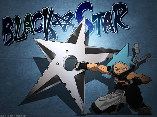 Soul Eater (Пожиратель душ) Обои titled Black☆Star