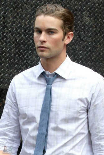 Chace - Gossip Girl - Behind the Scenes - July 28, 2011