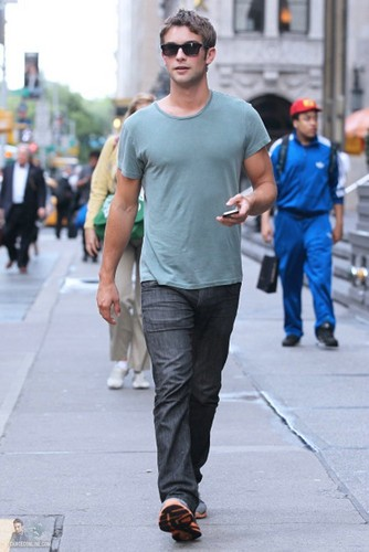 Chace - Walking down Sixth Avenue - September 08, 2011