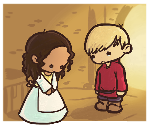 Chibi: Arthur and Guinevere - Angsty Angsty