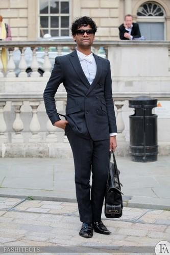 Emmanuel Ray, UK Fashion Иконка of the год at Лондон Fashion Week 2011