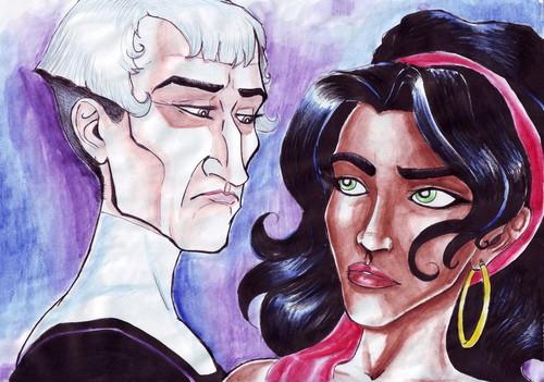 Frollo and Esmeralda