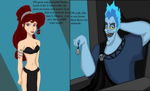 disney crossover achtergrond probably containing anime entitled Funny Hades/Meg
