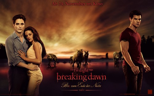 German breaking dawn kertas dinding