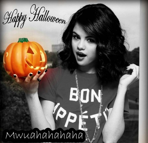 Happy Halloween from Me and Selena!!