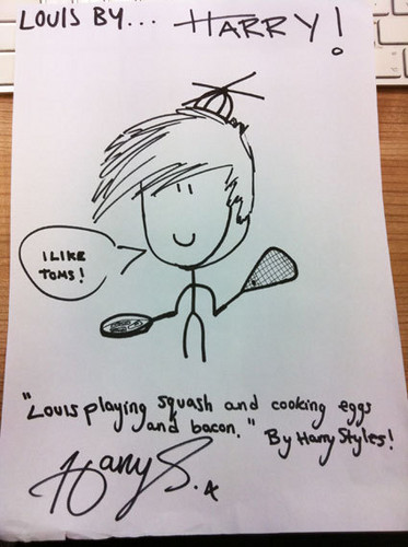 Harry's drawing of Louis! ;D