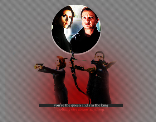 Haweye & Black Widow <3
