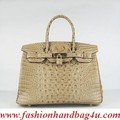 Hermes Birkin 30CM Crocodile head vein handbag 6088 apricot - handbags photo
