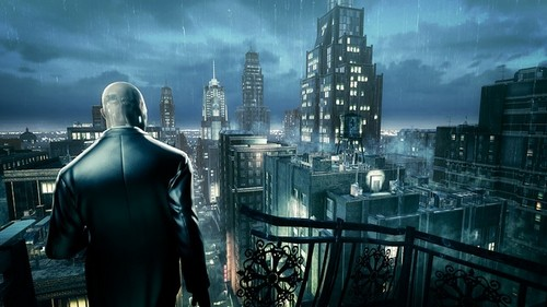 Video Games achtergrond containing a business district entitled Hitman Absolution