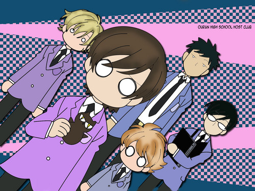 ouran high school host club wallpaper containing anime titled Host Club