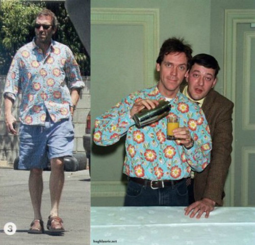 Hugh Laurie, same рубашка in different years ...