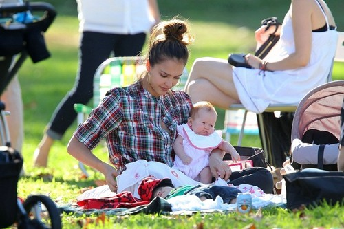 Jessica - At a birthday party at the Park in Beverly Hills - October 16, 2011