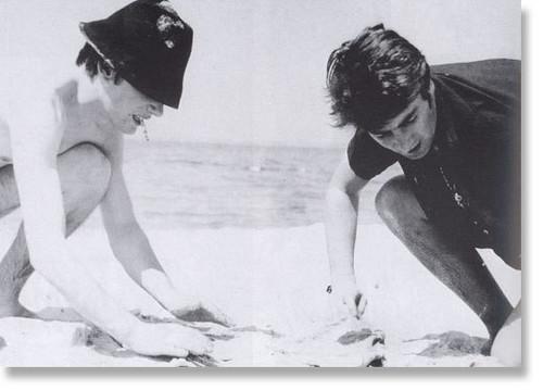 John Lennon and Stuart Sutcliffe