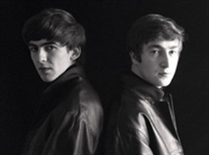 John Lennon and george Harrison back to back - the-beatles Photo