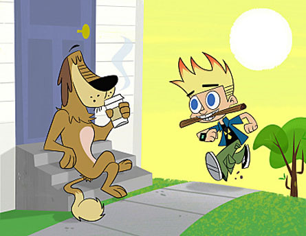 Johnny Test wallpaper containing anime titled Johnny and Dukey