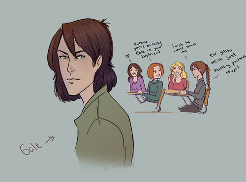 Katniss, Gale, and Peeta-Cartoons - the-hunger-games Photo