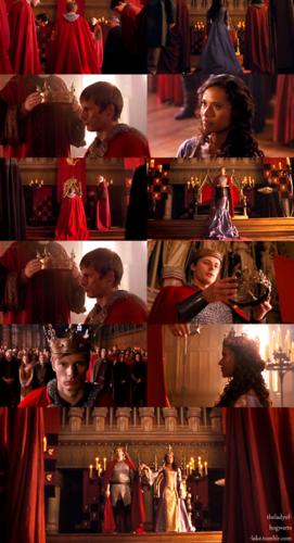 King Arthur and কুইন Guinevere