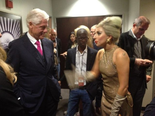 Lady Gaga @ Clinton Foundation 음악회, 콘서트