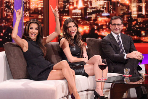 Lake Bell wallpaper with a business suit and a well dressed person called Eva Longoria, Lake Bell & Steve Carell on Rove Live - October 18, 2011