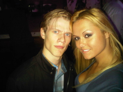 Lucas Till with Actress Angelina Armani