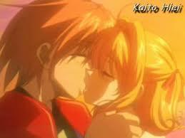 Luchia and Kaito kiss♥♥♥