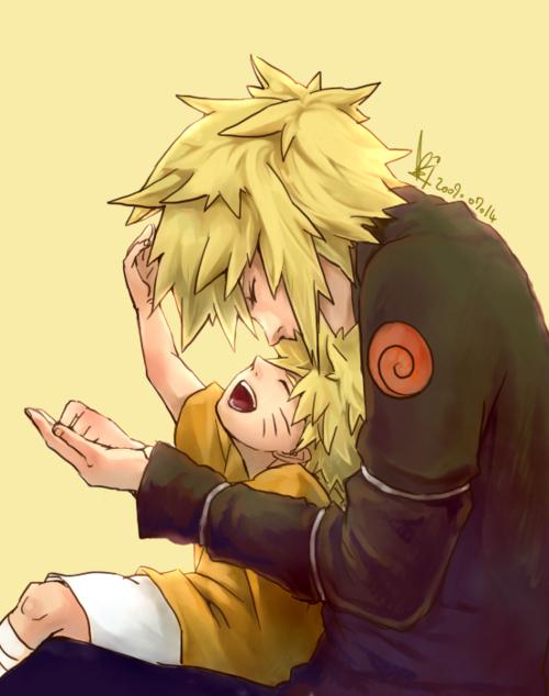 Minato & Naruto - Minato Namikaze Fan Art (26173712) - Fanpop