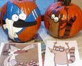 Mordecai & Rigby Pumpkins - regular-show fan art