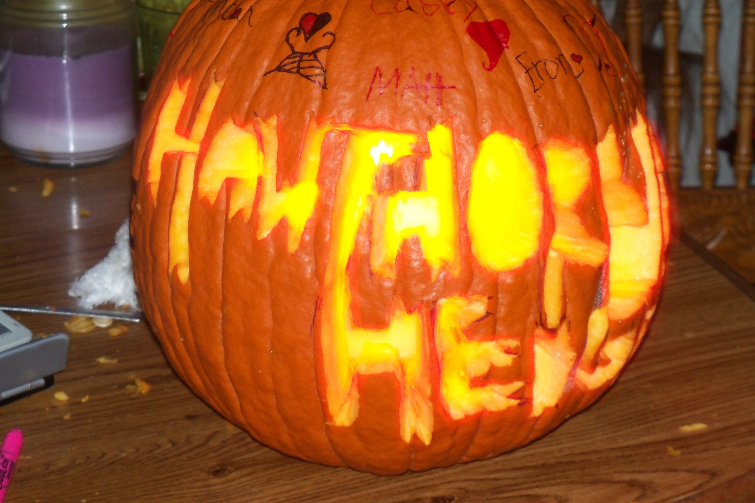 My hawthorne heights pumpkin i made this awesome pumpkin Awesome pumpkin drawings