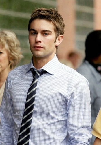 Nate Archibald wallpaper containing a business suit called Nate - Gossip Girl - Behind the Scenes - October 11, 2011