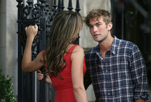 Nate - Gossip Girl - Behind the Scenes, Upper East Side - July 13, 2011