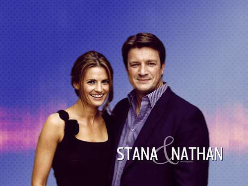 замок Обои containing a portrait titled Nathan & Stana