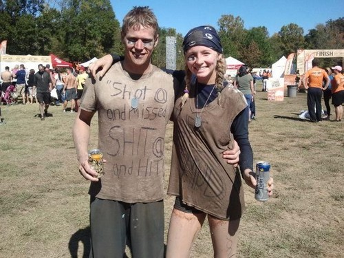 New twitter pic of Candice and Zach at Merrell's Down&Dirty Mud Run for Operation Gratitude! ♥