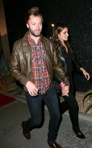 Nikki Reed and Paul MacDonald at Trousdale nightclub in West Hollywood, CA (October 18).