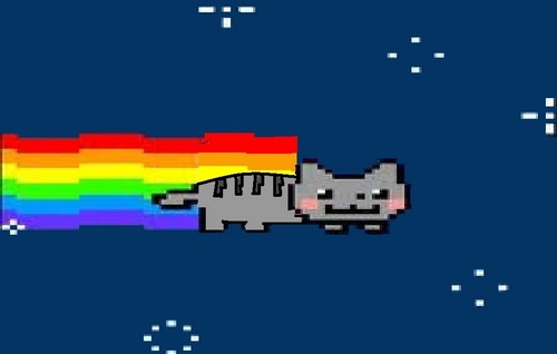 Nyan Cat karatasi la kupamba ukuta called Nyan Cat (Before He Collided With The Poptart)