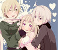 Nyotalia- Male! Ukraine, Fem! Russia and Male! Belarus - hetalia-couples photo